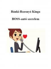 Bánki-Rozsnyó Kinga - BOSS-antó szerelem E-KÖNYV